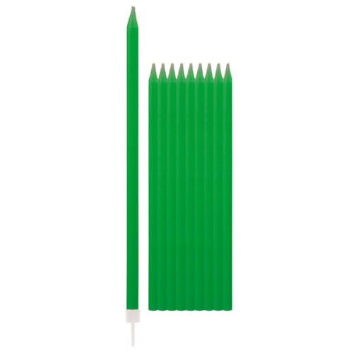 Svečniki z držali - zelena