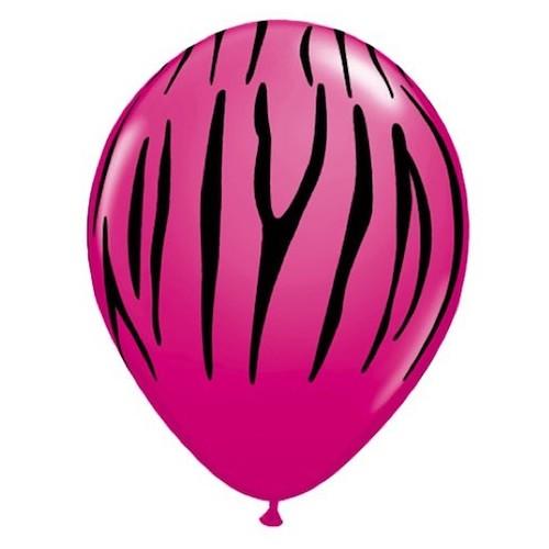 Balloon Zebra stripes - wild berry