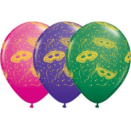 Balloon Mardi Gras Masks