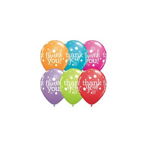 Balloon Thank you dots upon dots