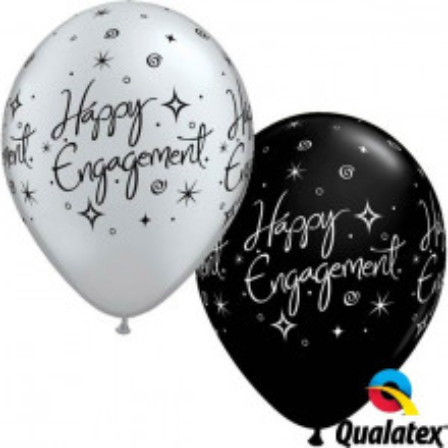 Balloon Engagment Elegant Sparkles