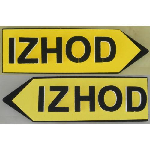 Signpost Izhod