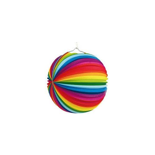 Rainbow stripes lampion
