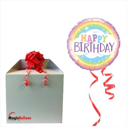 Bday Rainbow- Folienballon in Paket