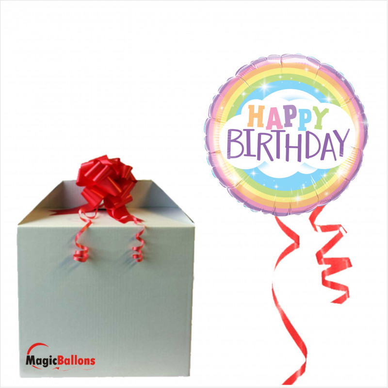 Bday Rainbow- foil balloon in a package