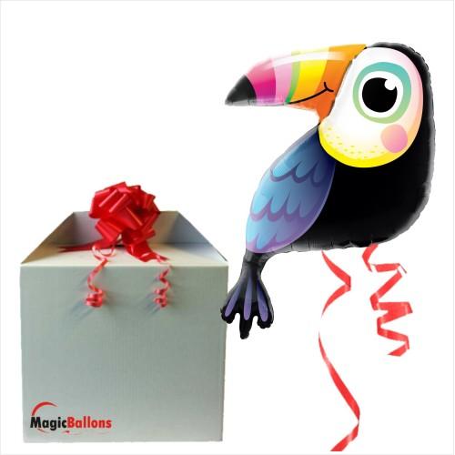 Colorful Toucan  - Folienballon in Paket
