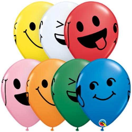 Balloon Smiley Faces