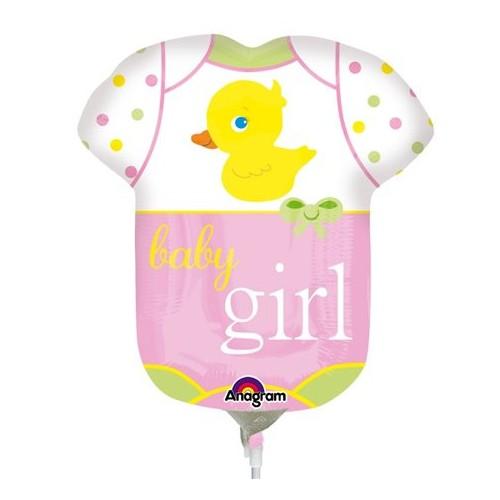 Baby Girl  - Folienballon auf einem Stäbchen