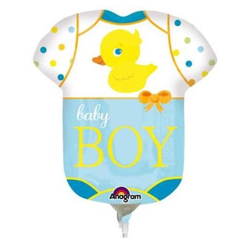 Baby Boy - Folienballon auf einem Stäbchen
