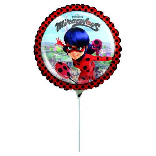 Miraculous - foil balloon on a stick