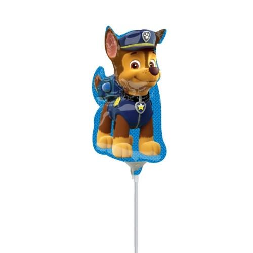 Chase Paw Patrol - foil balloon on a stick