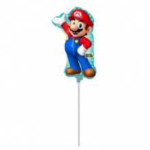Super Mario - foil balloon on a stick