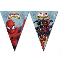 Spiderman bunting flags