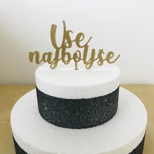 Cake Topper - Vse najboljše