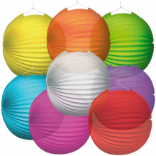 Lampion transparent rumen