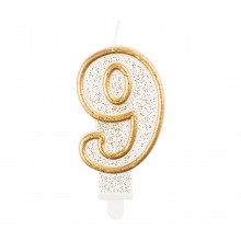 Gold candle 9