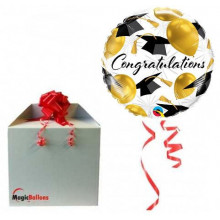 Congratulations gold balloons - foil balloon in a package