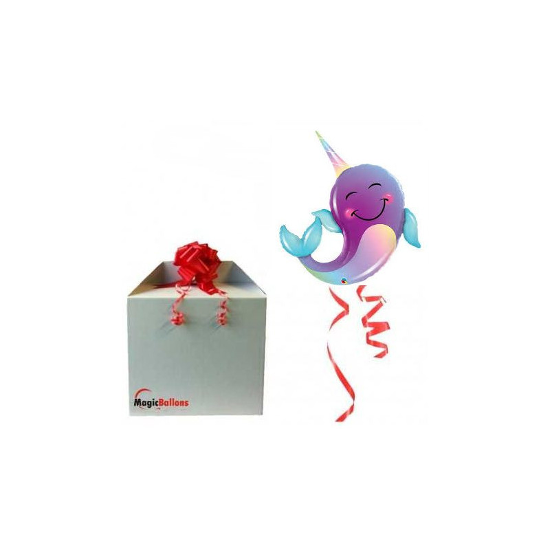 Party narwhal - foil balloon in a package