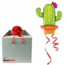 Potted cactus - foil balloon in a package