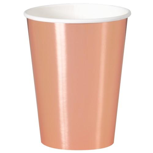 Cups 12OZ - Rose Gold 8 pcs