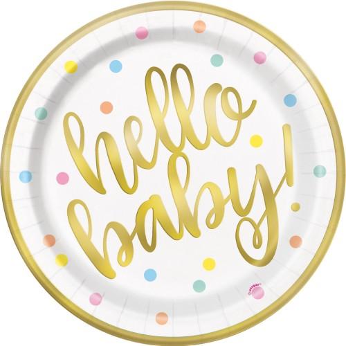 Hello baby plates 23 cm