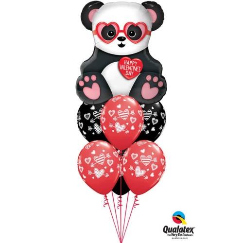 Lovestruck Panda Bear - foil balloon