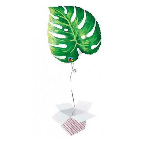 Balon s folijo s tropskim filodendronom