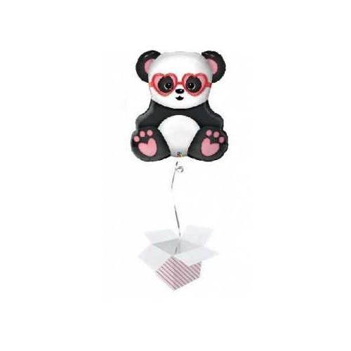 Ballon Lovestruck Panda Bear Helium befüllt