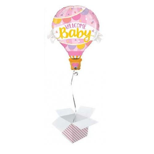 Ballon Welcome Baby Pink Balloon Helium befüllt