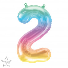 Mini number - 2 Jelly Ombre