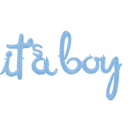 To je dječak pastelno plava folija balon