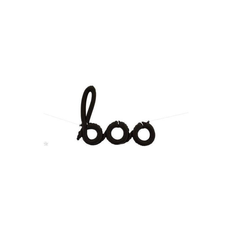 Boo Foil Balloon - black