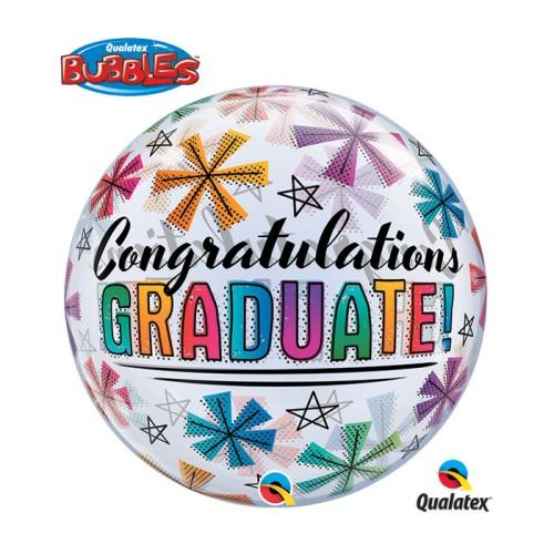 Congratulations Graduate & Stars - b.balloon in a package