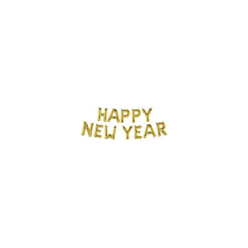 Happy New Year Foil Balloon - gold