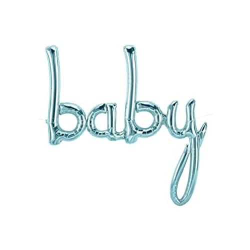 Balon iz otroške folije - pastelo modra