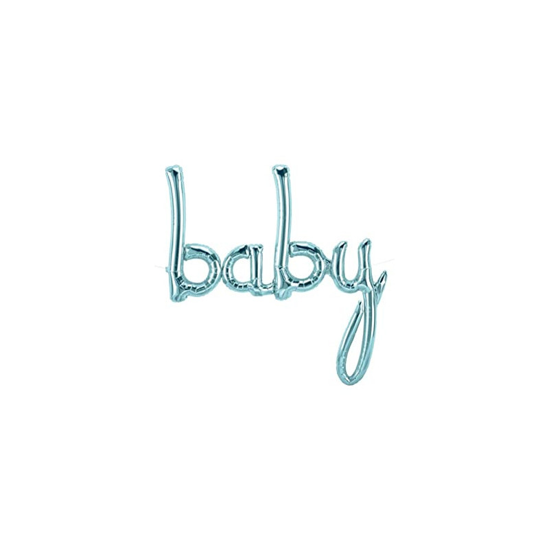 Baby Foil Balloon - pastel blue