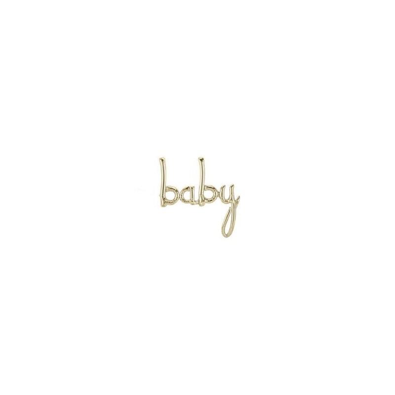 Baby Folienballon - gold