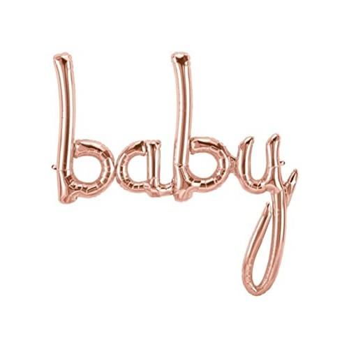 Balon iz otroške folije - rose gold