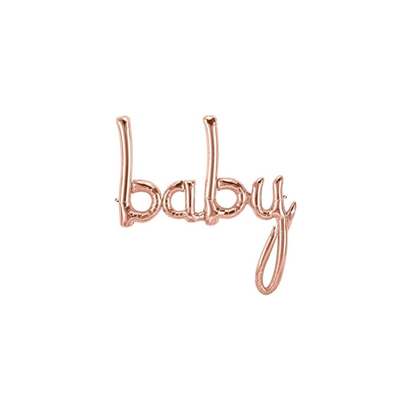 Baby Foil Balloon - rose gold