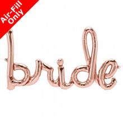 Bride Foil Balloon - rose gold