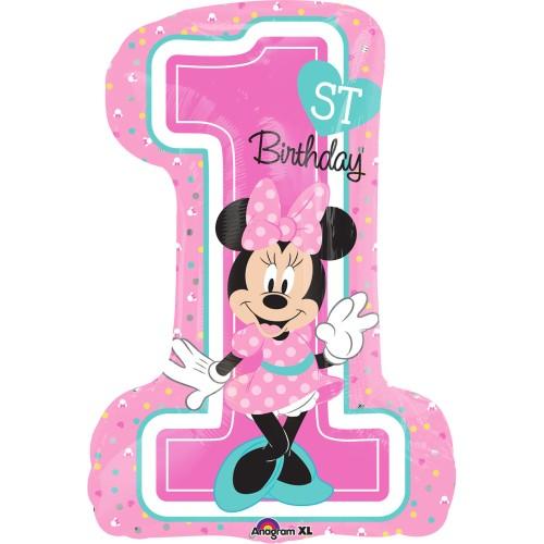 Minnie 1st Birthday - Jumbo Folienballon