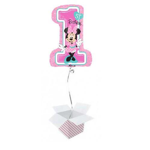 Minnie 1st Birthday - jumbo folija balon