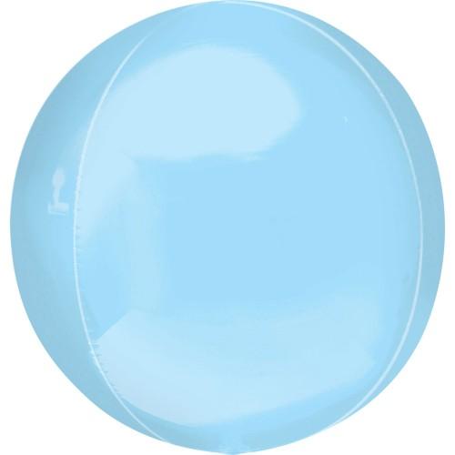 Orbz pastelov balon z modro folijo
