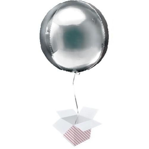 Orbz Silver - foil balloon