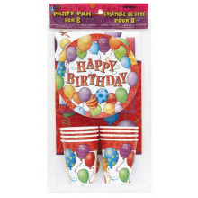 Happy Birthday Balloons-party pack
