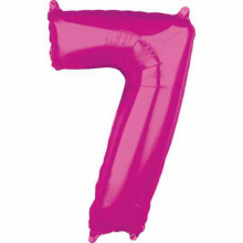 Foil balloon - pink number 7