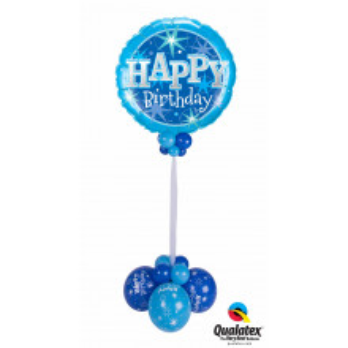 Birthday Blue Sparkle - foil balloon