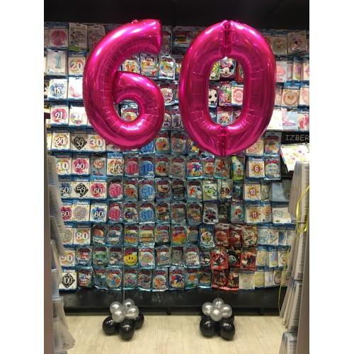 Luftballons  zum 60. Geburtstag