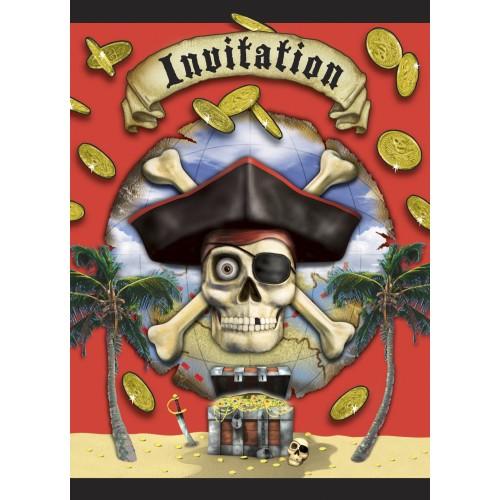 Pirate Bounty - invitations