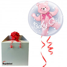 Baby Pink Bear - b.balloon in package